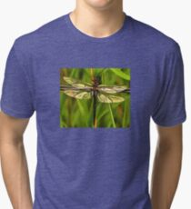 Dragonfly In Brown And Yellow Tri-blend T-Shirt