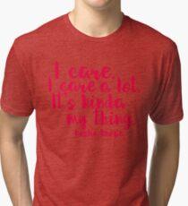Leslie Cares. A lot. Tri-blend T-Shirt