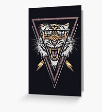 Thee-eyed Tiger Greeting Card