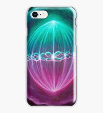 Dividing cells with chromosomes iPhone Case/Skin