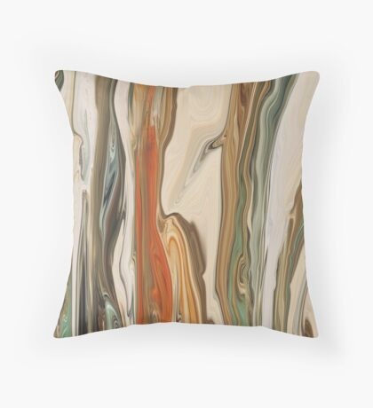 Marble Red Green Effect Throw Pillow