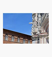 Detail of cathedral from Siena and surrounding building Photographic Print