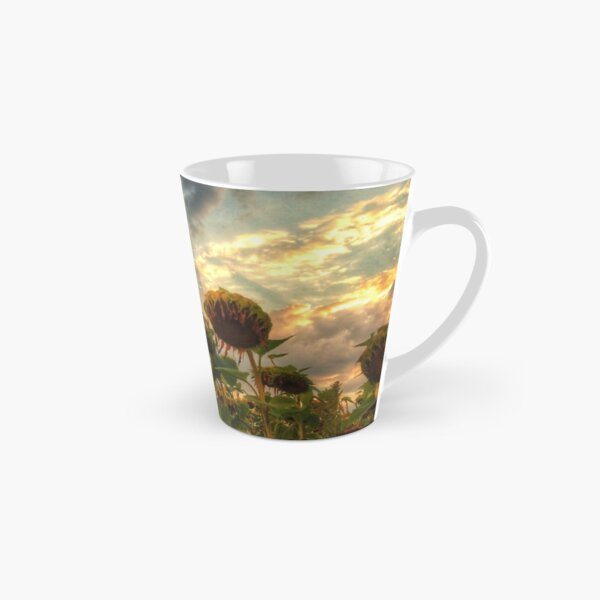 field of faded sunflowers  Tall Mug