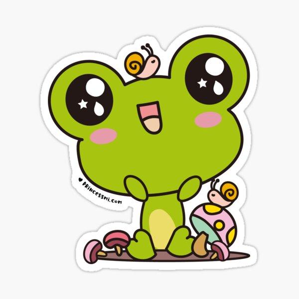 cute frog, kawaii frog cartoon Sticker
