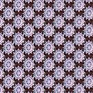 Christmas snowflake in red and green pattern by Dawna Morton