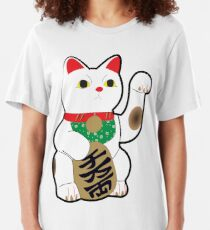 Maneki Neko (Lucky Cat) Slim Fit T-Shirt