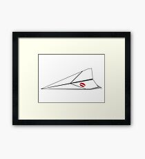 Paper Airplane 8 Framed Print
