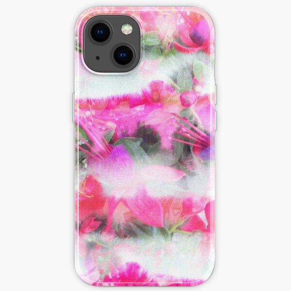 Floral Stripes iPhone Flexible Hülle