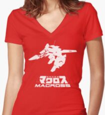Macross Gerwalk Women's Fitted V-Neck T-Shirt