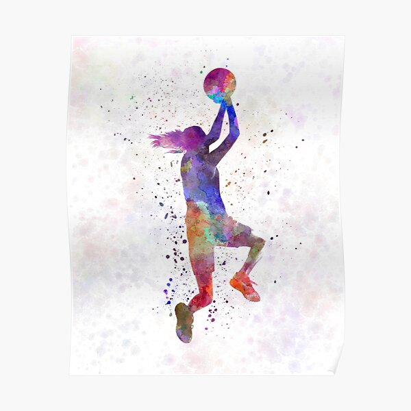 young woman basketball player 05 Poster