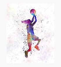 Lámina fotográfica jugador de baloncesto mujer joven 05