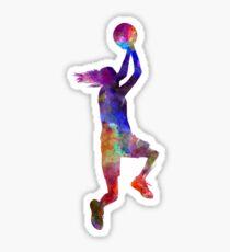 junge Frau Basketballspieler 05 Glänzender Sticker