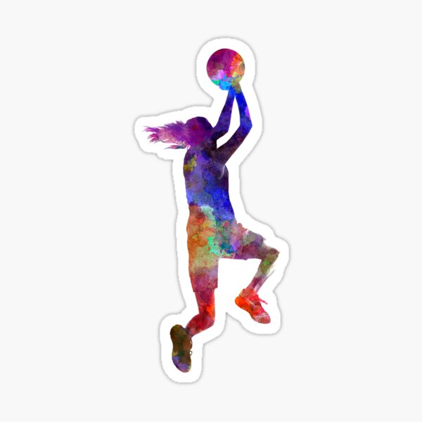 young woman basketball player 05 Sticker