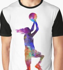 young woman basketball player 05 Graphic T-Shirt