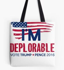 I'm Deplorable Tote Bag