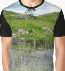 river reeds and lake on the kerry way Graphic T-Shirt