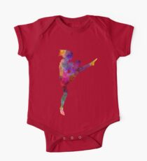 woman boxer boxing kickboxing silhouette isolated 01 Kids Clothes