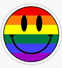 Gay Smiley face Sticker