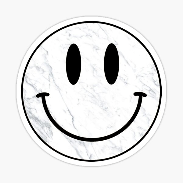 Marble Smiley Face Sticker