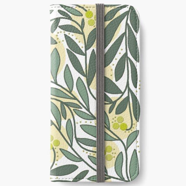 Elegant floral pattern - green iPhone Wallet