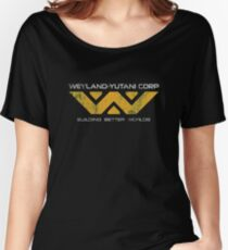 Weyland Yutani - Distressed Yellow Variant Women's Relaxed Fit T-Shirt