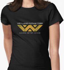 Weyland Yutani - Distressed Yellow Variant Womens Fitted T-Shirt