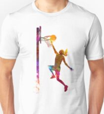 young woman basketball player 04 Unisex T-Shirt