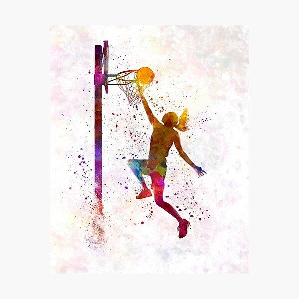 young woman basketball player 04 Photographic Print