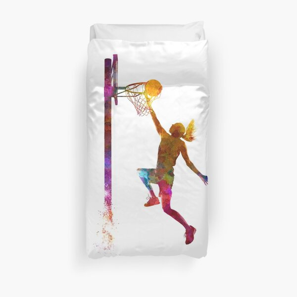 young woman basketball player 04 Duvet Cover