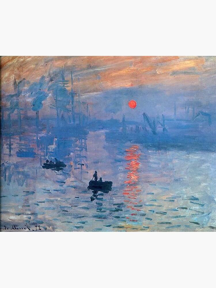 CLAUDE MONET, Impression, Sunrise. by TOMSREDBUBBLE