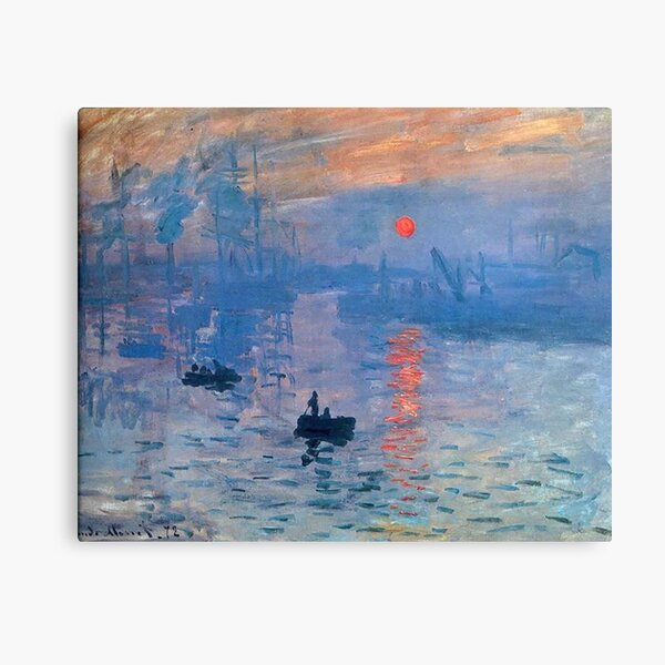 CLAUDE MONET, Impression, Sunrise. Canvas Print