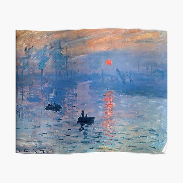 CLAUDE MONET, Impression, Sunrise. Poster