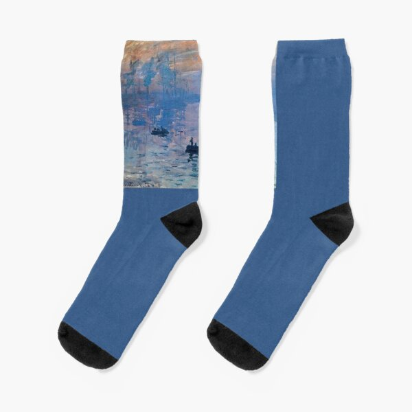 CLAUDE MONET, Impression, Sunrise. Socks