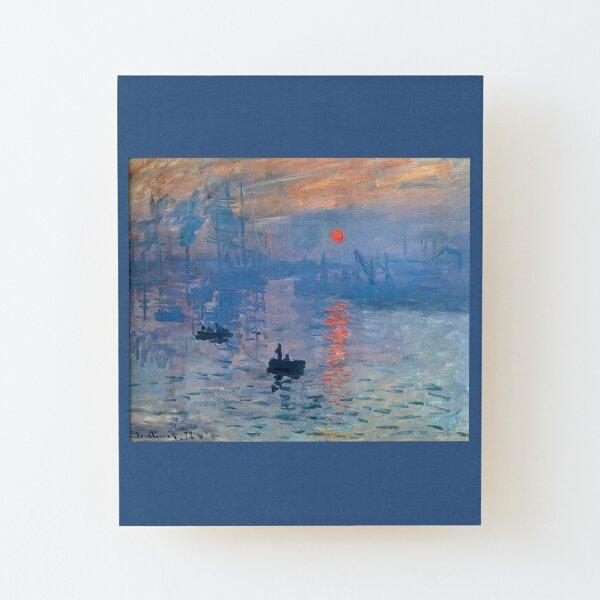 CLAUDE MONET, Impression, Sunrise. Wood Mounted Print