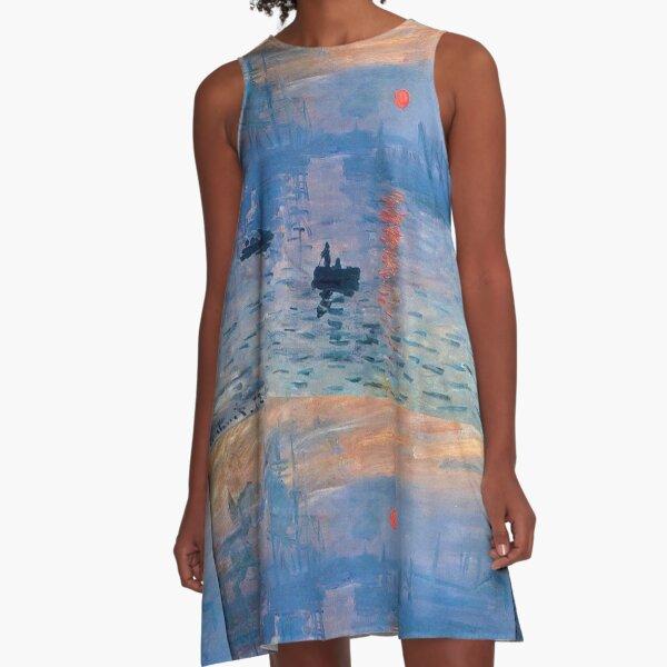 CLAUDE MONET, Impression, Sunrise. A-Line Dress
