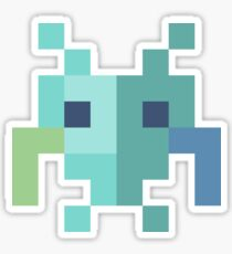 8bit Space Alien Icon Sticker