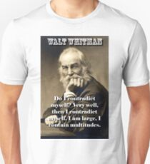 Do I Contradict Myself - Whitman Unisex T-Shirt