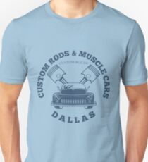 Custom Rods and Muscle Cars Dallas Graphics T-Shirt