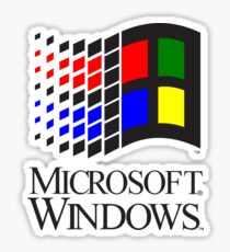 Vintage Windows 3.1x logo Sticker