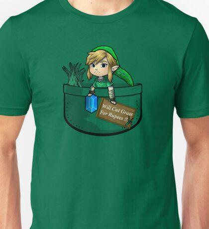 """Zelda """"Will Cut Grass For Rupees"""" Unisex T-Shirt"""