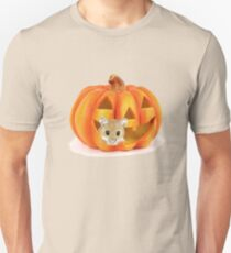 Cute Mouse Peeking out of Pumpkin T-Shirt