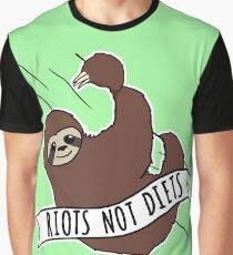 """Paresse Féministe """"Riots Not Diets"""" Paresse Anti-Diète T-shirt graphique"""