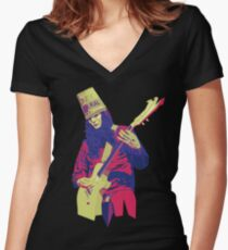 Buckethead - Warm - WPAP Women's Fitted V-Neck T-Shirt