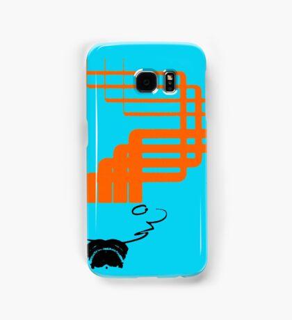 sci-fi hair (orange variant) Samsung Galaxy Case/Skin