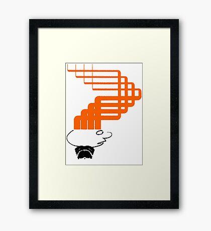 sci-fi hair (orange variant) Framed Print