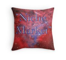 Niche Market Throw Pillow