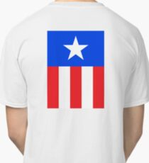 AMERICAN, America, US, USA, Captain America, Star and stripes Classic T-Shirt