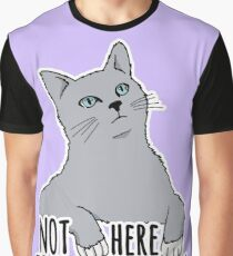 Not Here to Smile For You - Feminist Cat Graphic T-Shirt