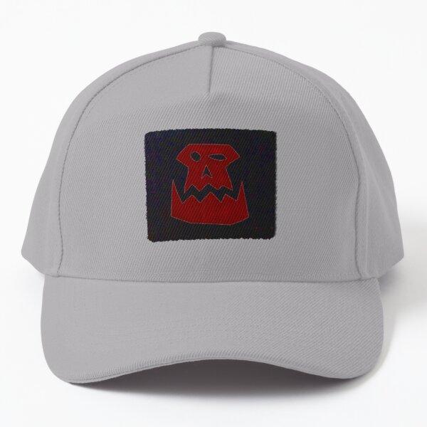 Ork Skull Glyph - Red Baseball Cap
