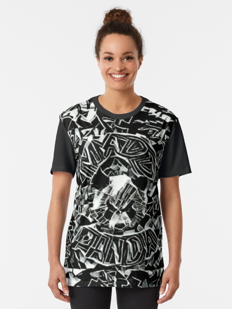 Alternate view of Madd Panda (crazy style) Graphic T-Shirt